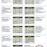 2019-20 North American Martyrs School Calendar